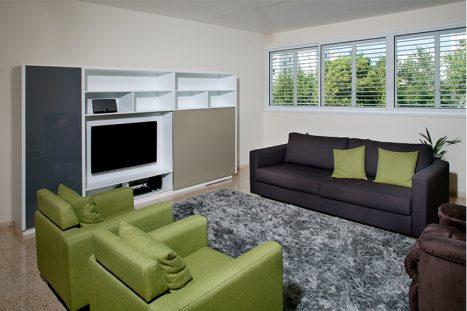 יחידת מדיה לסלון פרטי בהתאמה אישית בסגנון מודרני