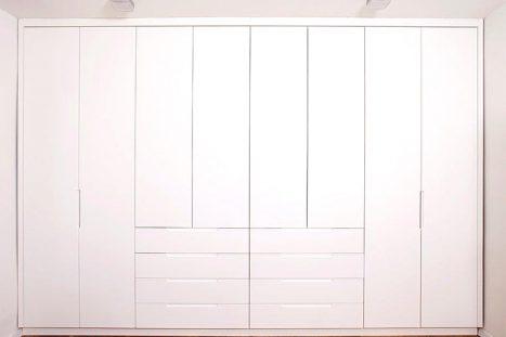 ארון קיר לבן בהתאמה אישית בסגנון מודרני מינימליסטי